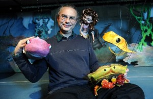 "Jon Ludwig and his cast for the ""Little Mermaid Pirate."" Photo: Center for Puppetry Arts."