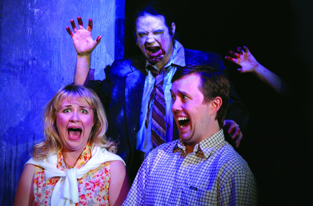 """SONG OF THE LIVING DEAD"" (2008): Erin Meadows, Stephen Platinum (center) and Gabriel Dean. Photo: Linnea Frye"