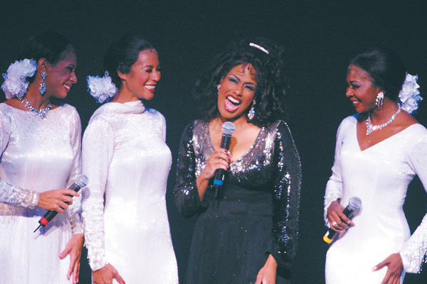 JENNIFER HOLLIDAY (center) reprises her Tony Award-winning turn as Effie Melody White in this Theater of the Stars staging.