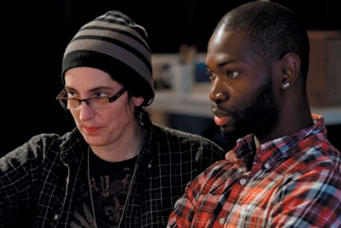 McCraney, in Chicago, with director Tina Landau.