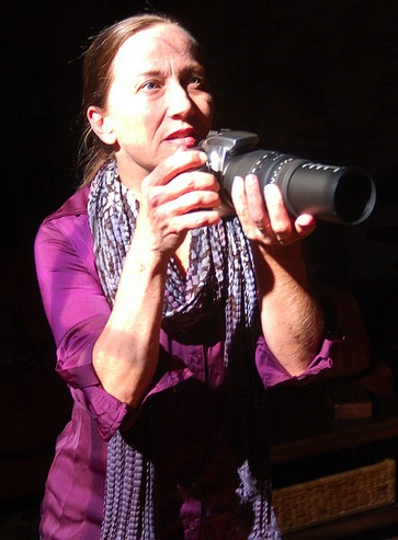"BEST ACTRESS/PLAY: Carolyn Cook as a war photographer in Horizon Theatre's ""Time Stands Still."""