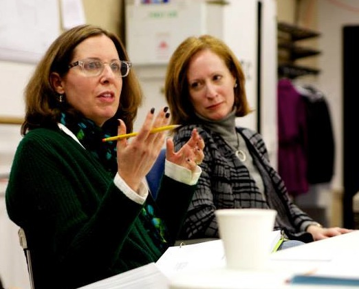 PLAYWRIGHT JANECE SHAFFER (left) and director Susan V. Booth in rehearsal. Photo: John Malley
