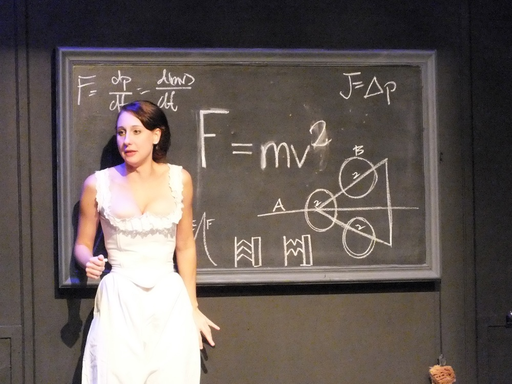 """DUERR AS EMILIE in last summer's """"La Marquise du Châtelet Defends Her Life Tonight."""""""