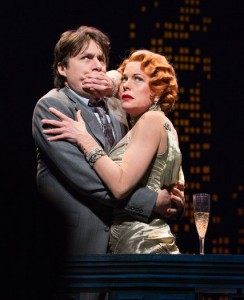 """BULLETS OVER BROADWAY"": Zach Braff, Marin Mazzie."