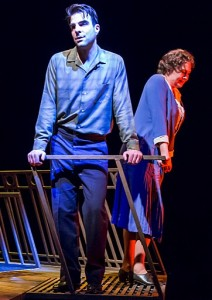 "TONY NOMINEE Cherry Jones, with Zachary Quinto, in ""The Glass Menagerie."""