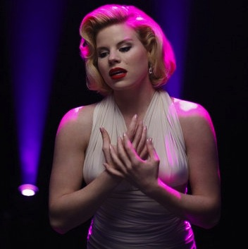 "HILTY as Ivy Lynn channeling Marilyn Monroe on ""Smash."""
