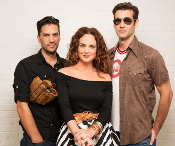 """Crash,"" Annie and ""Nuke"" (from left): Will Swenson (left), Melissa Errico and John Behlmann. Photo: Greg Mooney"