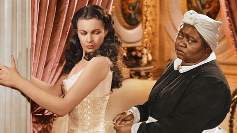 "HATTIE McDANIEL as Mammy, with Vivien Leigh, in ""Gone With the Wind."""