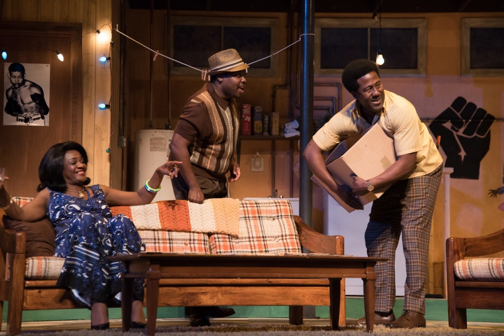 "At True Colors, Tonia Jackson, Enoch King (center) and E. Roger Mitchell in ""Detroit '67."" Photo: Josh Lamkin"