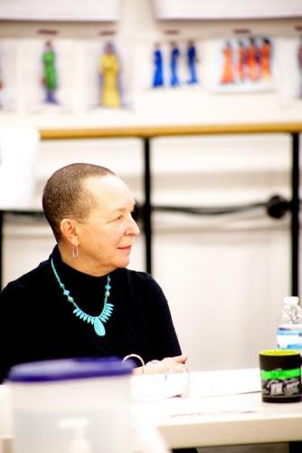 Playwright Pearl Cleage, at rehearsal.