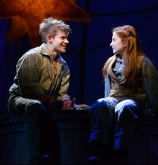 """Andrew Keenan-Bolger, Sarah Charles Lewis in """"Tuck"""" at the Alliance. Photo: Greg Mooney"""