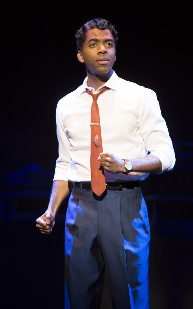 Julius Thomas III as Berry Gordy Jr. Photo: Joan Marcus