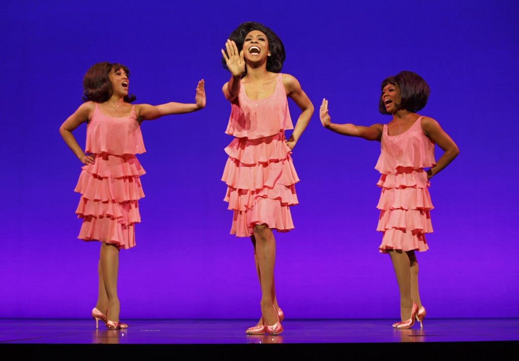 The Supremes (from left): Krisha Marcano as Florence Ballard, Allison Semmes as Diana Ross and  Trisha Jeffrey as Mary Wilson.