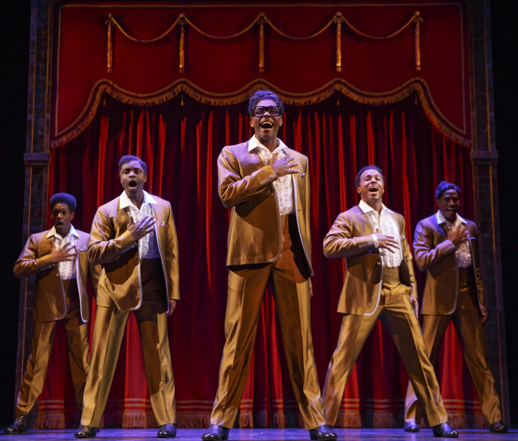 """The Temptations in """"Motown the Musical."""" Photo: Joan Marcus"""