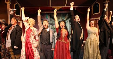 "The cast of ""Drood."""