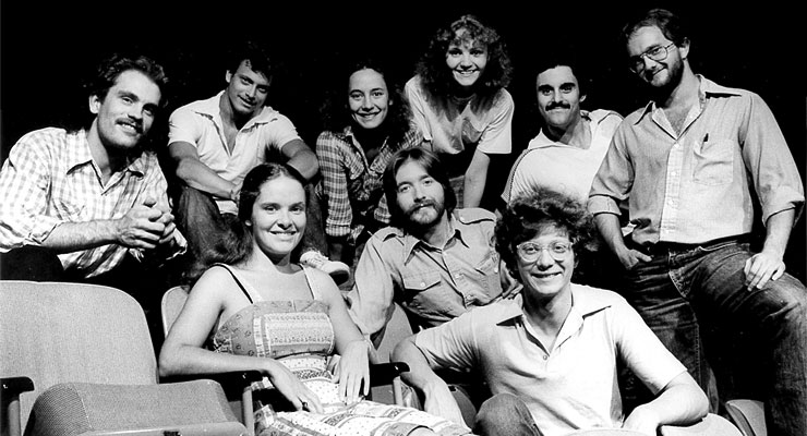 The Steppenwolf ensemble in 1975: The group includes Perry (foreground),