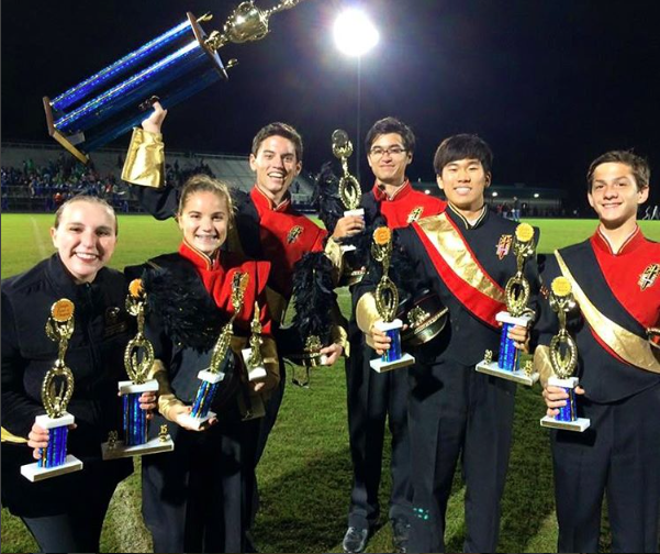 The Greater Atlanta Christian School Marching Spartans celebrate victories at the Georgia Contest of Champions. Image courtesy instagram.com/gacspartans.