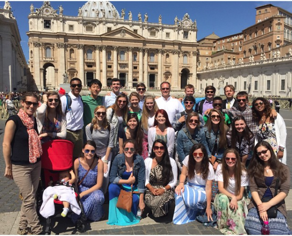 Holy Spirit Preparatory School's Class of 2015 went to Rome, Italy. Image via Instagram.com/holyspiritprep.