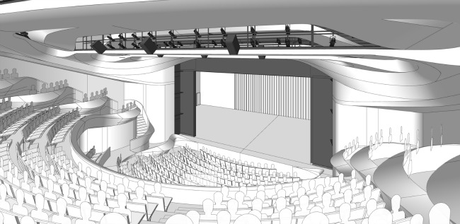 An architectural rendering of the new Alliance Theatre, coming in the fall of 2018.