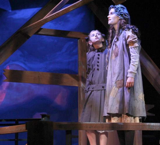 "Allison Gann and Emerson Steele as Sara in ""A Little Princess."" Photo: BreeAnne Clowdus"