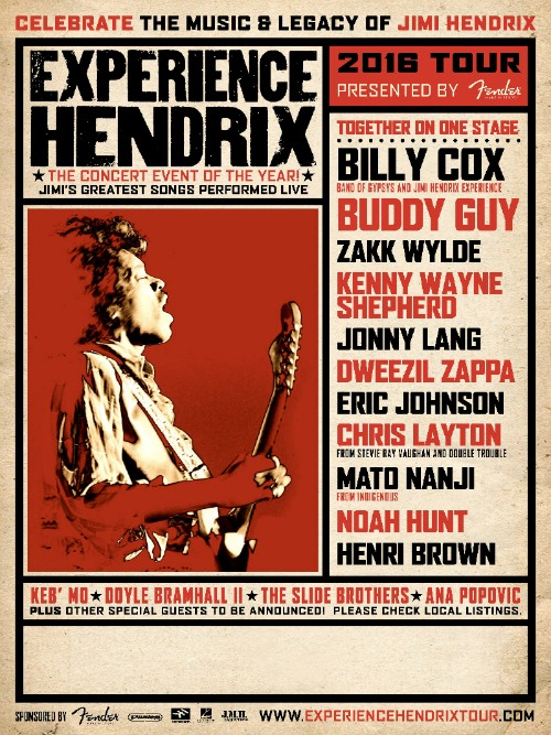 CX-Experience Hendrix Tour Poster