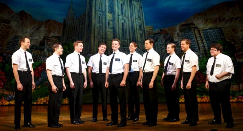 """""""The Book of Mormon"""" ensemble. Photos by Joan Marcus"""