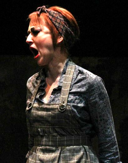 """Sweeney Todd"" at Actor's Express: Deborah Bowman as Mrs. Lovett. Photo: BreeAnne Clowdus"