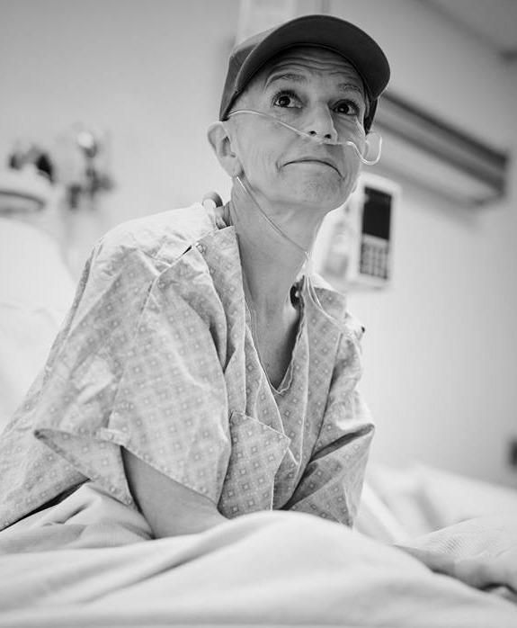 """Wit"": Mary Lynn Owen as Dr. Vivian Bearing."
