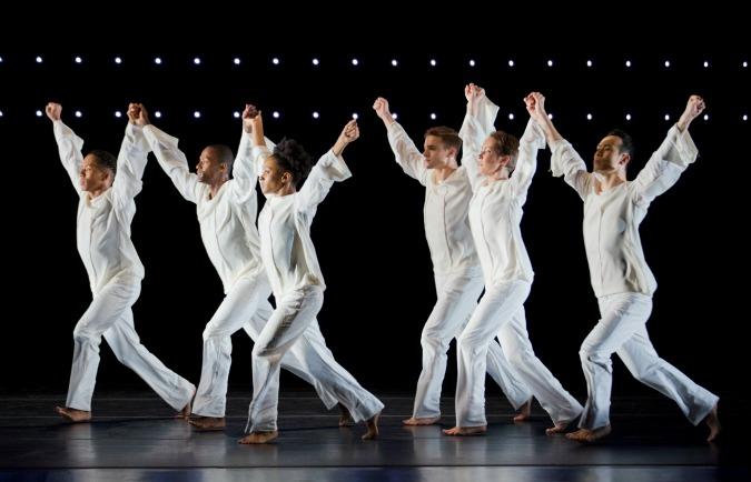 "Ailey dancers perform artistic director Robert Battle's ""Awakening."" Photo: Paul Kolnik"