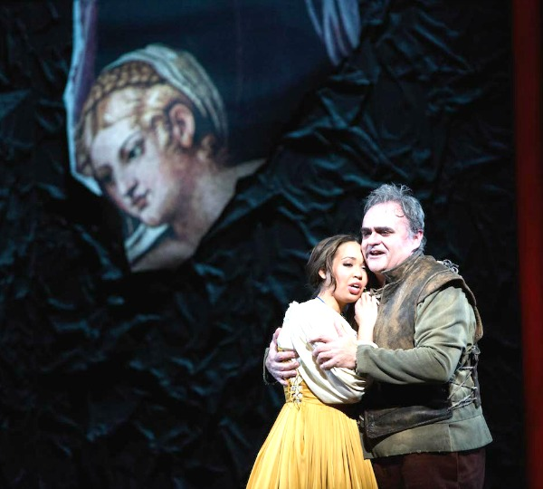 "Atlanta Opera's ""Rigoletto,"" with Nadine Sierra and Todd Thomas. Photo: Jeff Roffman"