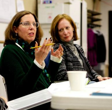 Alliance artistic director Susan V. Booth (right), with Atlanta playwright Janece Shaffer. Photo: Alliance Theatre