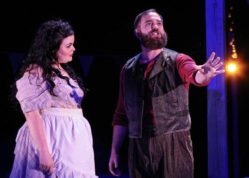 Jessica Miesel as Carrie Pipperidge and Daniel Burns as Mr. Snow. Photo: BreeAnne Clowdus