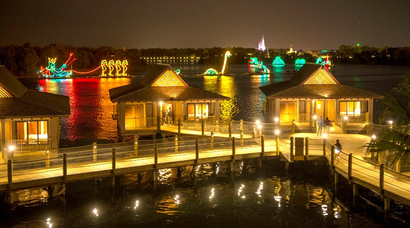 The over-the-water Bungalows at the Polynesian Village are among the newest accommodations at Disney World Think Bora Bora without the 14-hour flight. Check in, grab a mai tai and enjoy your own private plunge pool. All photos by Walt Disney World News & Disney
