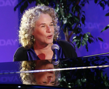 Carole King today, at age 74. Photo: NBC