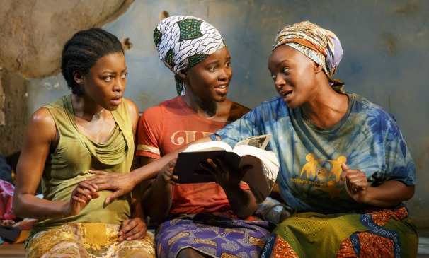 Eclipsed (from left) features Pascale Armand, Oscar winner Lupita Nyong'o and Atlanta native Saycon Sengbloh. Photo: Joan Marcus
