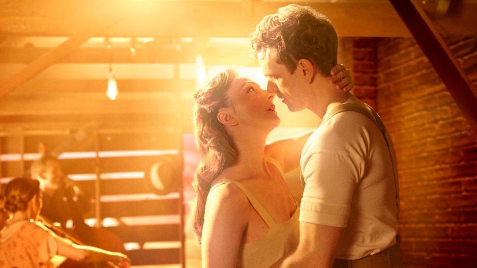 "Carmen Cusack and Paul Alexander Nolan in ""Bright Star."" Photo: Nick Stokes Bri"