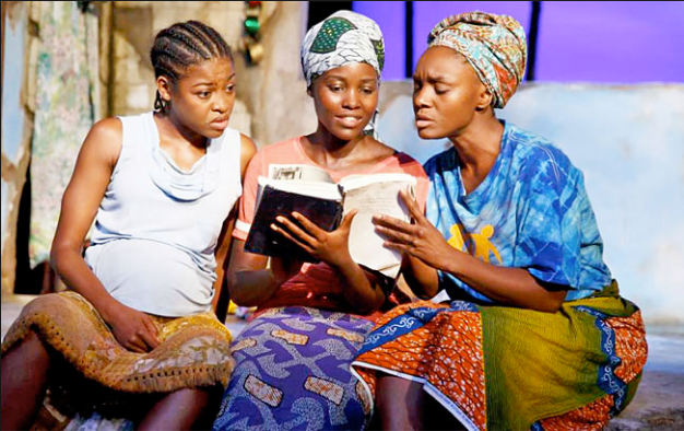 """""""Eclipsed"""" (Broadway's Pascale Armand, from left, Lupita Nyong'o and Saycon Sengbloh featured here) opens xxxxx at Synchronicity. Photo: Joan Marcus"""
