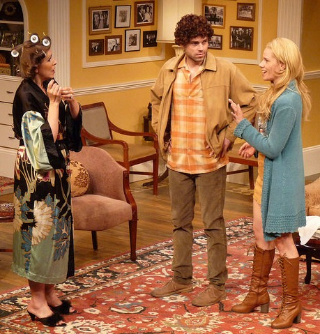 Hester meets Anna, her son's fiancee her eventual political enemy. Pictured, from left: Tess Malis Kincaid, Justin Walker and Rachel Garner. Photo: Bradley Hester