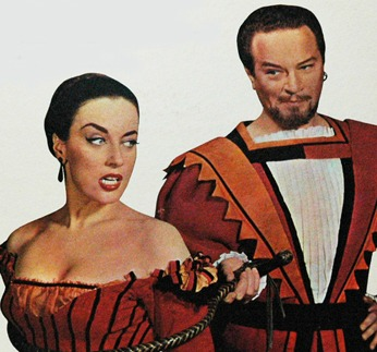 Patricia Morison as Kate, Alfred Drake as Petruchio in the 1948 original Broadway cast.