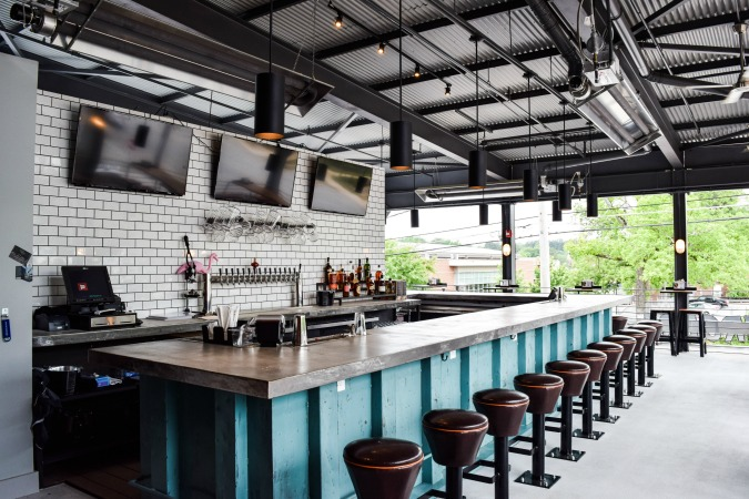 The rooftop patio at Grindhouse Killer Burgers' new Decatur location. Photo: Tori Allen