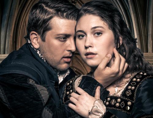 Brian Hatch as King Henry VIII, Brooke Owens as Anne Boleyn. Photo: Daniel Parvis