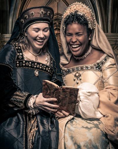 Brooke Owens as Anne Boleyn, Bethany L. Smith as Lady Rochford. Photo: Daniel Parvis