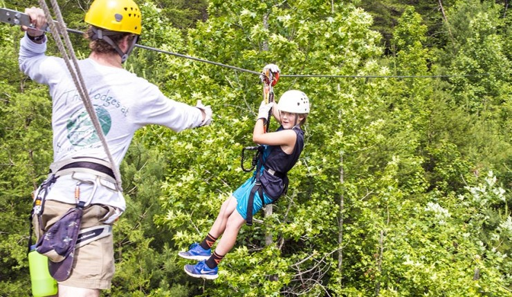 The new Unicoi Zipline and Aerial Adventure Park whisks thrill-seekers through the North Georgia woods. Photo: Unicoi State Parl & Lodge