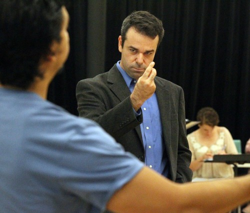 Atlanta Opera leader Tomer Zvulun in rehearsal. Photo: The Atlanta Journal-Constitution