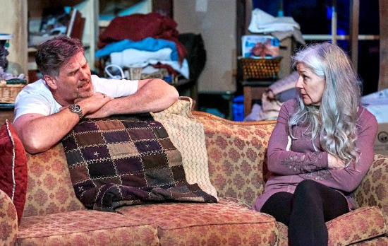 "The family relationships are as messy as the family home in ""Appropriate,"" with Kevin Stillwell and Jan Wikstrom. Photo: Chris Bartelski"