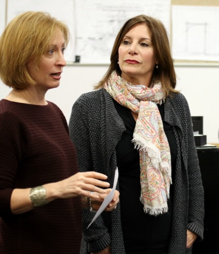 On the first day of rehearsal: director Susan V. Booth (left) and singer/actor Courtenay Collins. Photo: Kathleen Covington