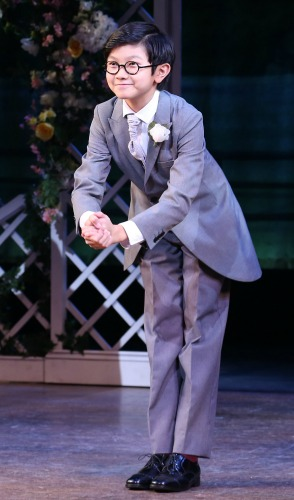 """Gao, taking his opening night bow in """"Holiday Inn"""" on Broadway. Photo: Walter McBride"""