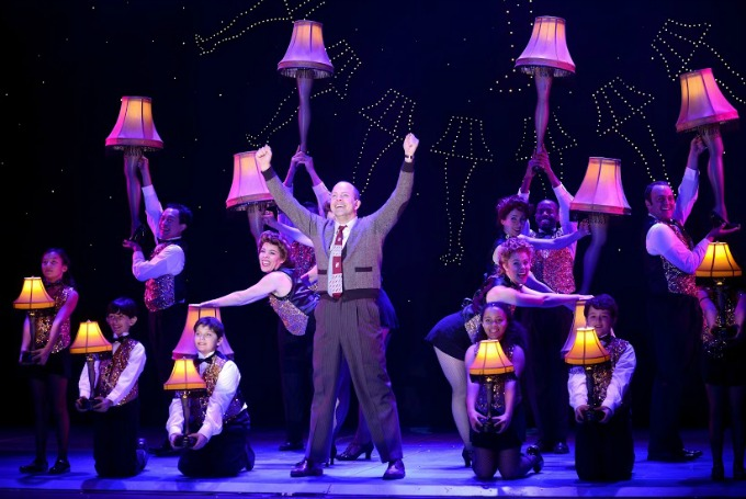 """Christopher Swan (center) as the Old Man and the cast of """"A Christmas Story."""" Photo: Gary Emord Netzley"""