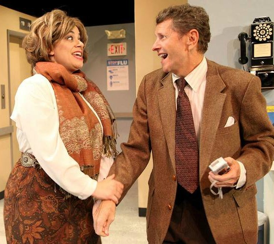 Dismayed: Gina Rickicki, Doyle Reynolds. Photo: Stage Door Players