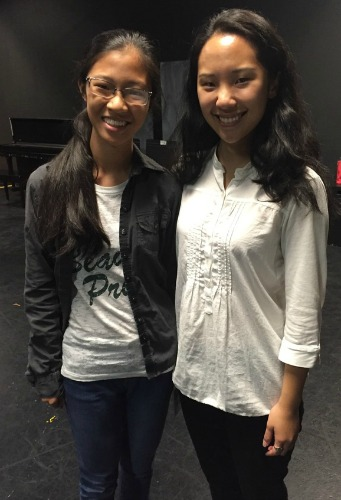 "Anna Zheng (left) is one of the Paideia students who helped create ""Slur."" Michelle Pokopac is the professional act(or who brings several roles to life on the Alliance stage, including the one based on Anna."